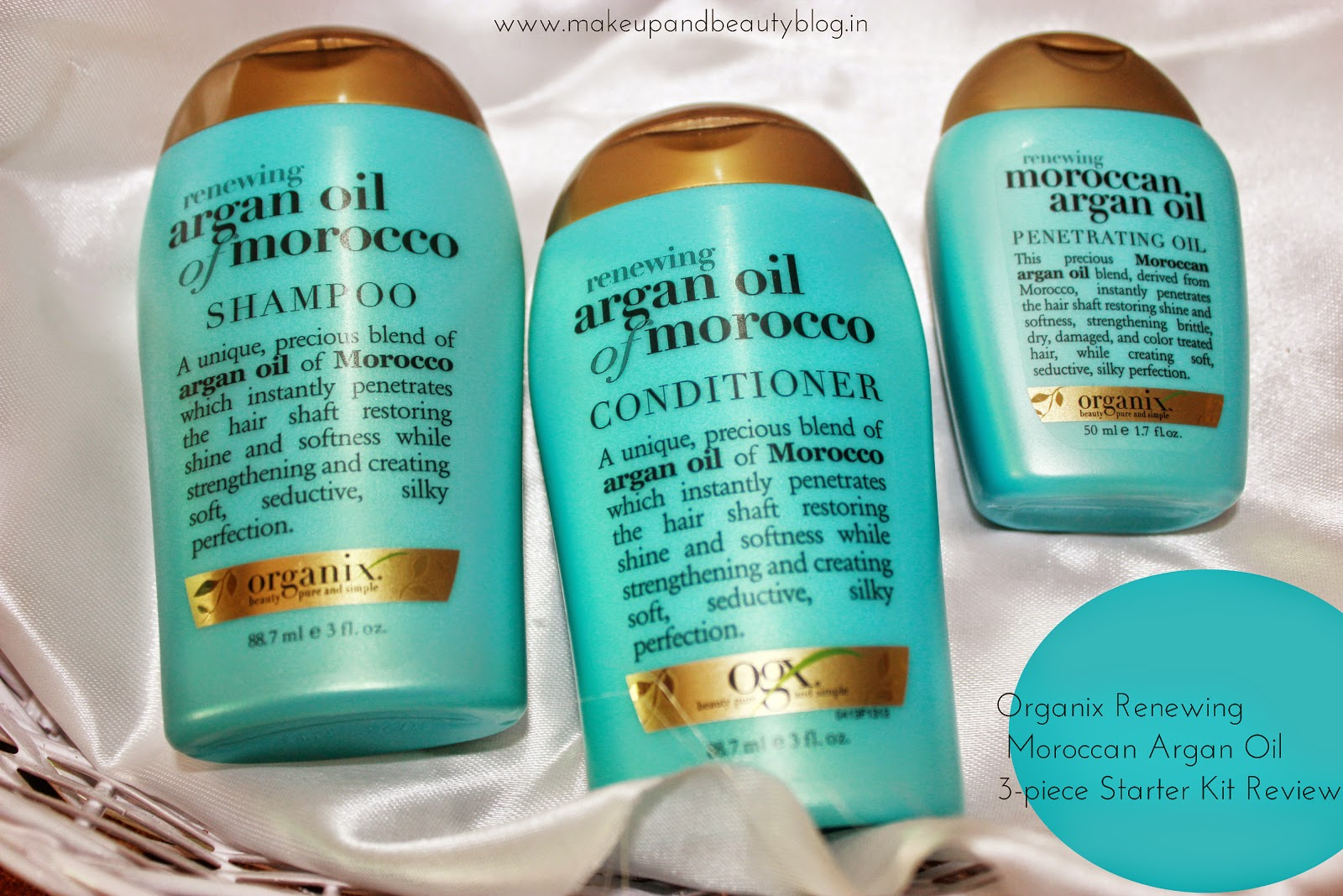 Organix Renewing Moroccan Argan Oil 3-piece Starter Kit