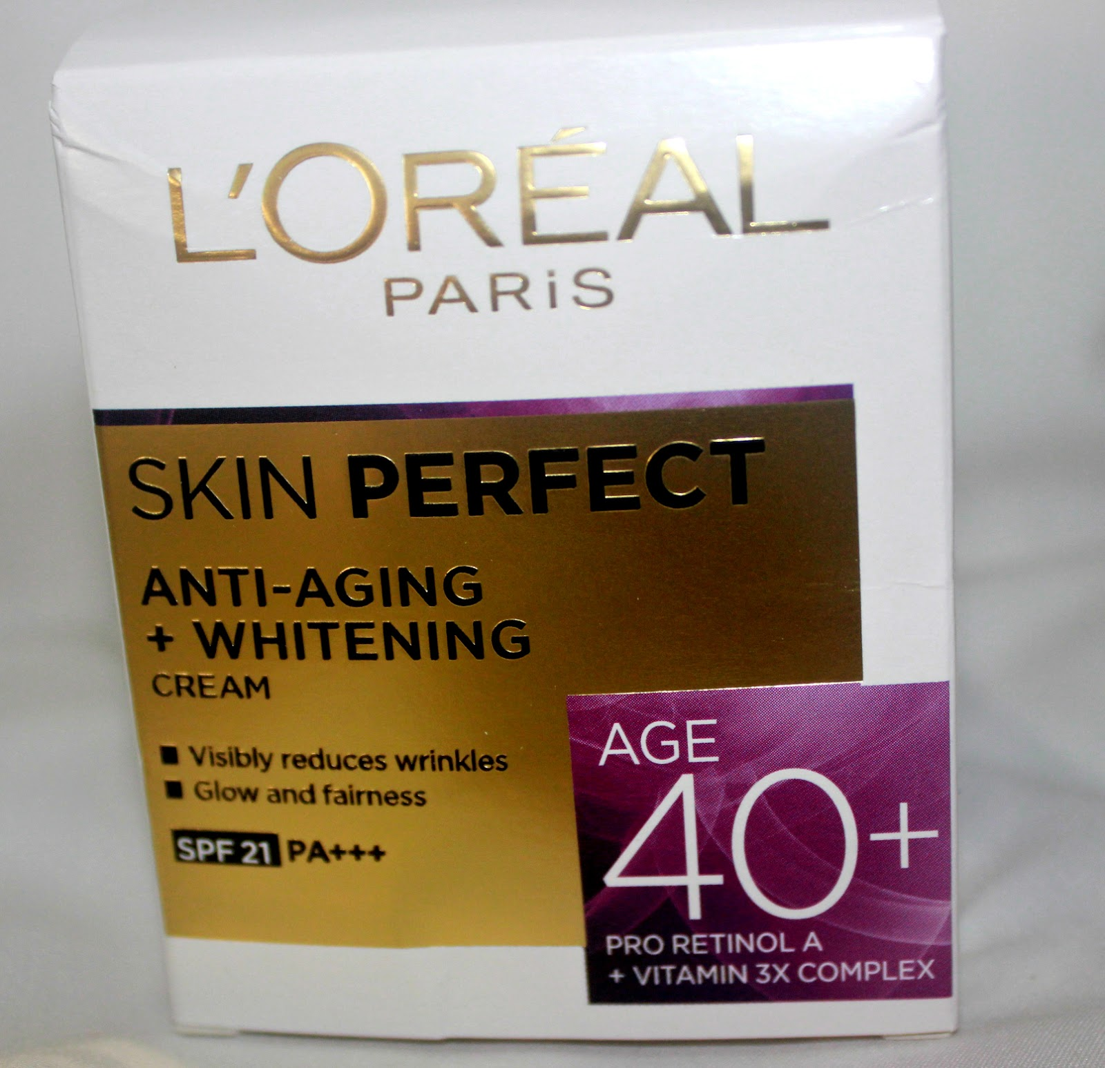 L'Oreal Paris Skin Perfect Anti-Aging + Whitening Cream For Age 40 ...