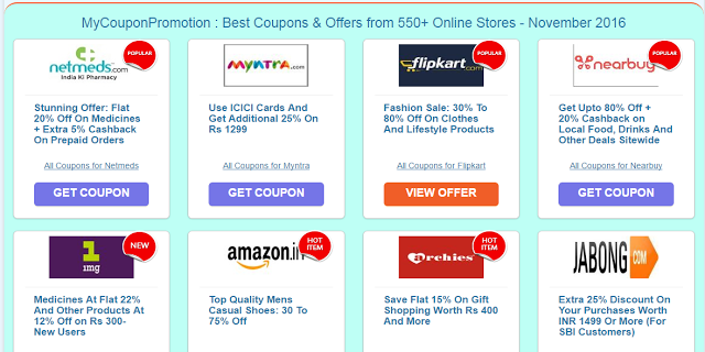 Myntra discount coupons code 2018